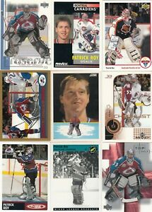 PATRICK ROY a lot of 9 DIFFERENTS CARDS INSERTS near mint   LOT 5          a