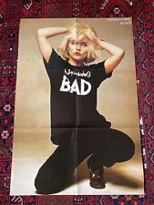 Blondie Poster Warhol Bad Deborah Debbie Harry 1981 Original 23 x 35