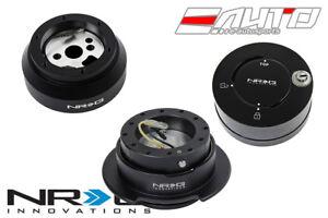 NRG Steering Wheel Short Hub 170H + Black Gen2.5 Quick Release BK + Lock LB b