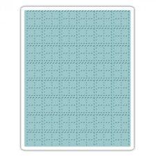 """Sizzix Textura se desvanece cosido a cuadros 661610 Carpeta de grabación en relieve - 5 3/4"""" X 4 1/2"""""""
