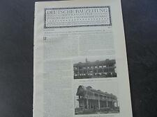 1909 ...Bauzeitung b17 / Frankfurt Müllverbrennungsanlage 2