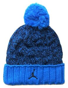 NIKE AIR JORDAN JUMPMAN Youth Cap Cable Knit Pom Beanie Winter Hat Age 8-20