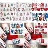 4/5feuilles de Noël de transfert d'eau Nail Art Stickers décoration autocollants
