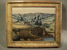 Tableau Paysage Aquarelle Signé André Deslignères Illustrateur (1880-1968)