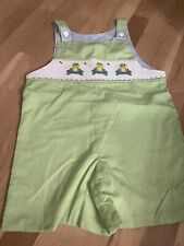 remember nguyen boy Romper John Jon One Piece Smocked Boys Green Frogs Size 4t