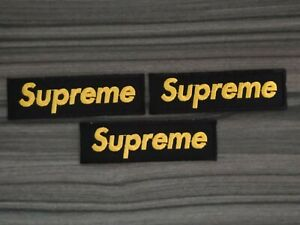 3 pcs Black&yellow Sup Patches Embroidered Iron or Sewn on Jacket Hat Shirt