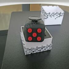 Black Red Fidget Cube Vinyl Toy Anxiety Stress Relief Adults Kids from USA