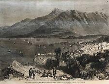 View Of Beyrout. Mount Lebanon. Beirut. Wood Engraving, 1860.