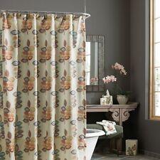 "Croscill Mosaic Leaves Fabric Shower Curtain 70x72"" Multicolor"