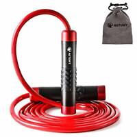 Weighted Skipping Rope 1LB,Heavy Jump Rope 3 Meter Adjustable Length