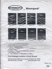 Showgard Supersafe Stock Sheets 4 Row Double Sided Pages 61mm 5 Pack S4