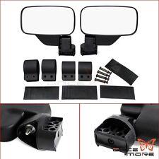 "UTV Side View Mirror With 1.75"" & 2"" Mounts Clamp For Polaris Ranger RZR Yamaha"