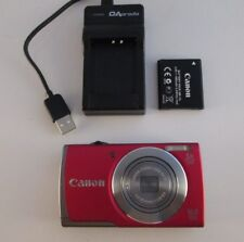 CANON RED PowerShot A3500 IS 16 MP Digital Camera PC1953 5x Zoom w/ Charger