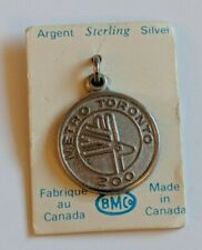 Vintage Sterling Silver METRO TORONTO ZOO Charm Bracelet Logo Canada