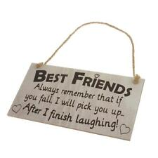Novelty Best Friend Friendship Wooden Wall Hanging Decor Plaque Gift Sign