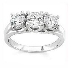 Diamant Echtschmuck-Ringe aus Weißgold mit VS Reinheit
