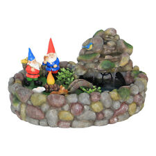 Miniature Dollhouse FAIRY GARDEN - Gnome Fountain Kit - Accessories