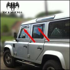 4 Deflettori Aria Antiturbo Oscurati Land Rover Defender 90 110 127 130 dal 1990