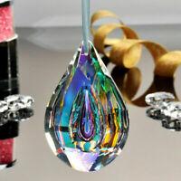Crystal Glass Suncatcher Chandelier Lamp Prism Hanging Drop Color Pendant Decor