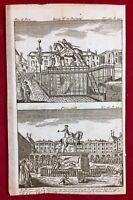 Palais Royal 1792 Pont Neuf Paris Révolution Française Journal Rare Gravure