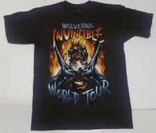 Wolverine Invincible World Tour X-Men Marvel Comics Adult T Shirt Medium