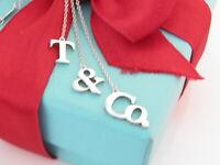 Tiffany & Co Sterling Silver T C O Dangle Pendant Dangling Necklace Box Pouch