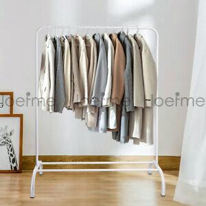Movable Pole Clothe Rail Garment Rack Clothes Wardrobe Organiser Hanger Portable