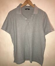Men's Grey Short Sleeve Polo Top Size M Blue Harbour<NH7132
