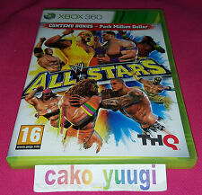 WWE ALL STARS XBOX 360 TRES BON ETAT VERSION 100% FRANCAISE
