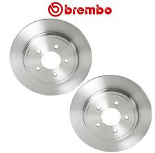 Pair Set of 2 Rear Brake Disc Rotors Solid 302mm Brembo for Ford Mercury Mazda