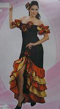 Flamenco WOMANS Fancy Dress Costume Spagnola RUMBA Capelli Pettine