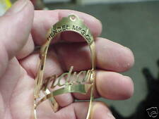 Indian Hendee open center Bike Badge Headtube Emblem Acid Etched Brass