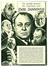 Publicité  Ancienne  Film Emil Jannings Grand Maître du   1941  ( P 24 )