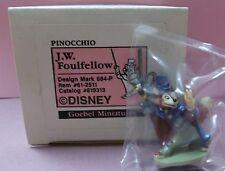 Olszewski 1990 Goebel Disney Pinocchio's J. W. Foulfellow Miniature Figurine