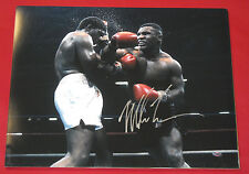 MIKE TYSON RARE AUTOGRAPHED 16X20 PHOTO STEINER BOXING IRON MIKE