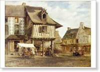 HERMITAGE MUSEUM. Theodore Rousseau. Market Place in Normandy Fine Art Print NEW