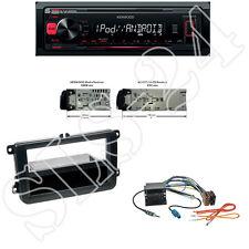 Kenwood KMM-204 USB Radio + VW Polo Scirocco Blende black Quadlock ISO Adapter