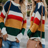 Fashion Women Off The Shoulder Sweater Casual Knitted Loose Long Sleeve Pullover