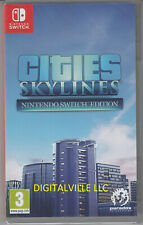 Cities Skylines Nintendo Switch Brand New Factory Sealed Simcity Game