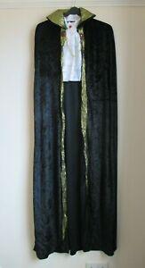 Mens Halloween Fancy Dress Cape & Cravat, Gothic Count Cape With Collar & Cravat