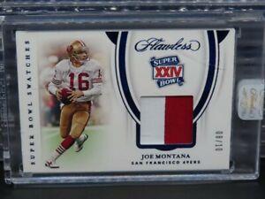 2020 Flawless Joe Montana Sapphire Super Bowl Patch #8/10 R104
