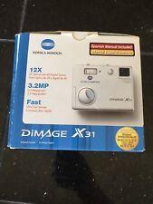 Konica Minolta Dimage X31 Digital Camera Plus Accesories (New In Box)
