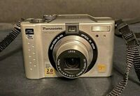 Lumix DMC LC20 Panasonic Digital Camera Silver Excellent Condition and Tested
