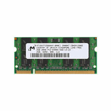 For Micron 2GB DDR2 800Mhz PC2-6400 CL6 1.8V 200Pin Laptop Sodimm SDRAM Memory