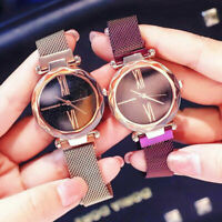 Women Fashion Starry Sky Watches Quartz Watch Magnet Strap Wristwatch Supplies
