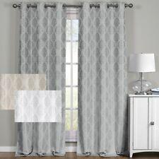 Paisley 100% Blackout Window Curtain Panels Heat and Full Light Blocking Drapes