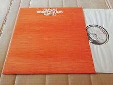 PHILIP GLASS - MUSIC IN TWELVE PARTS 1 & 2 - LP - CA 2010 - UK 1976