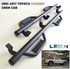 Side Step Nerf Bar For 05-17 Toyota Tacoma Crew Cab Drop Step Hoop Tube Texture