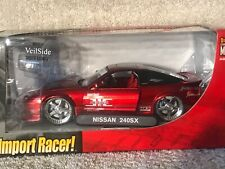 Jada Import Racer! NISSAN 240SX 1:24 Diecast Metal Candy Apple Red VHTF! #3