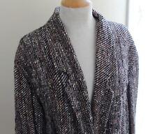 Panache -Handwoven Great Funky Tweed Art-to-Wear Fiber Artist Jacket Sz L XL 1X